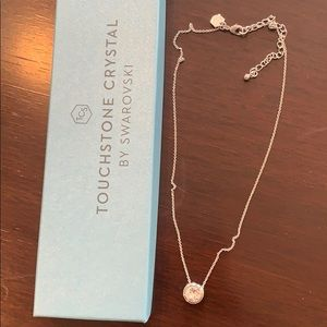 Touchstone crystal Swarovski diamond necklace